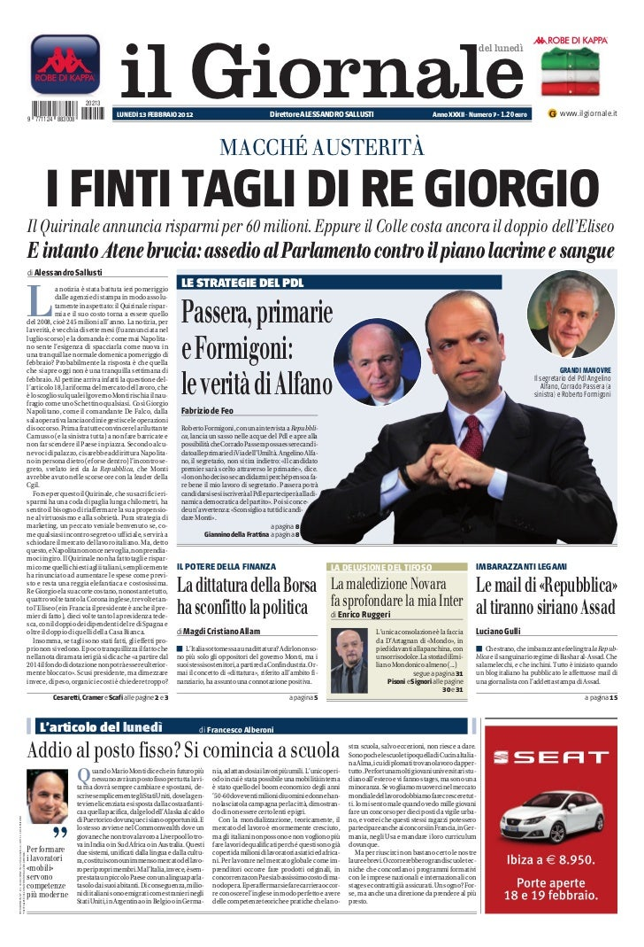 Giornale 13-02-2012