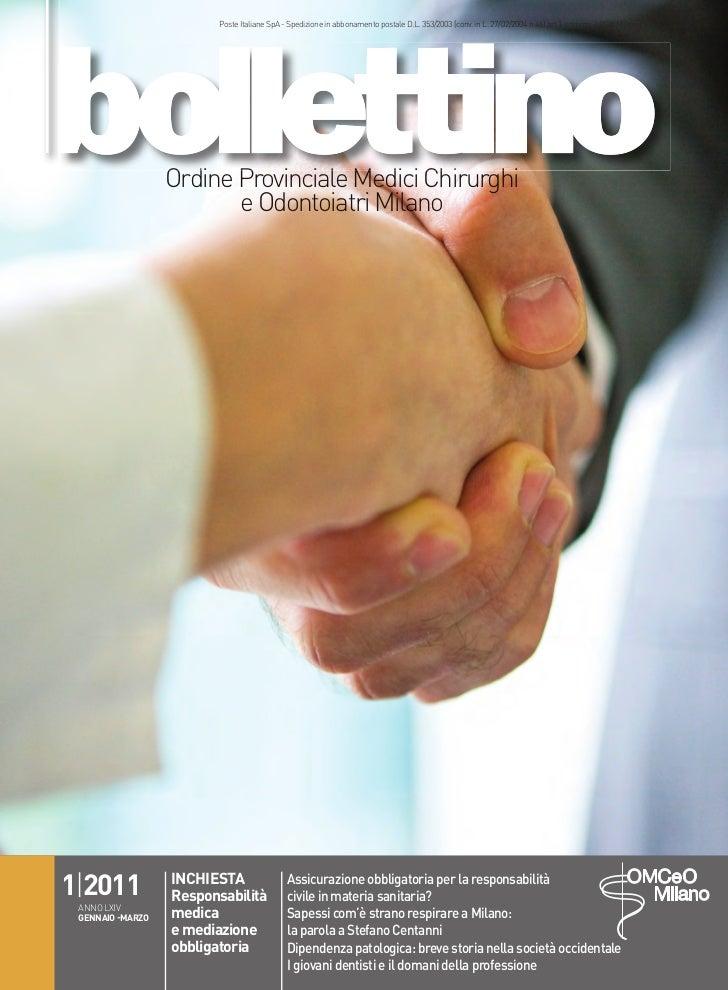 Giornale ordine medici milano 2011
