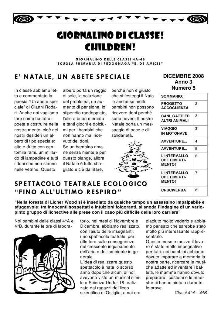 Giornalino 5 Dicembre2008 Classe 4