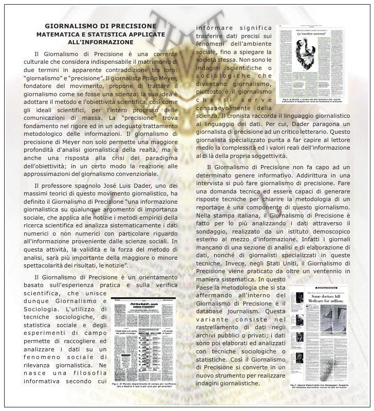 Il Giornalismo Precisione - breve presentazione