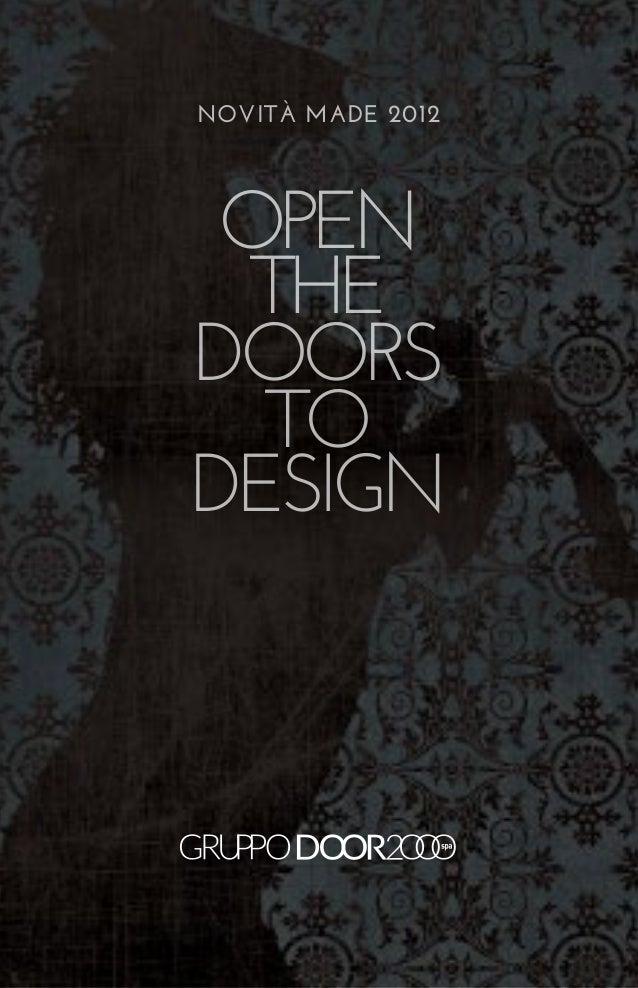 NOVITà MADE 2012 open  THEdoors  todesign