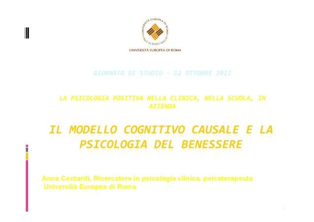 Anna Contardi, Ricercatore in psicologia clinica, psicoterapeutaUniversità Europea di Roma                                ...