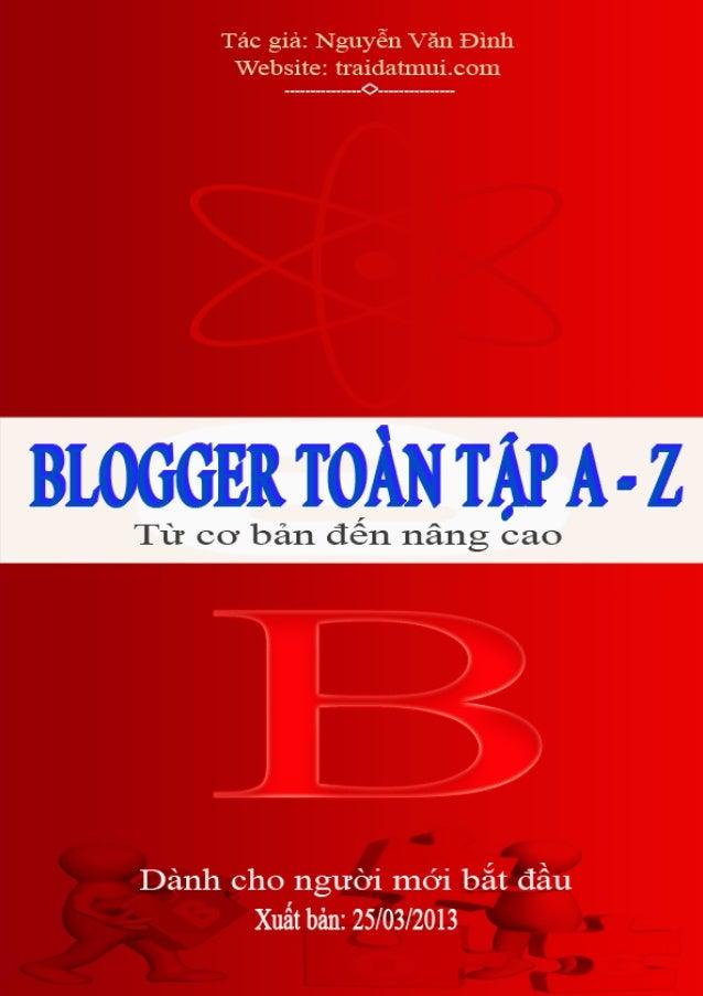 Giáo trình blogger