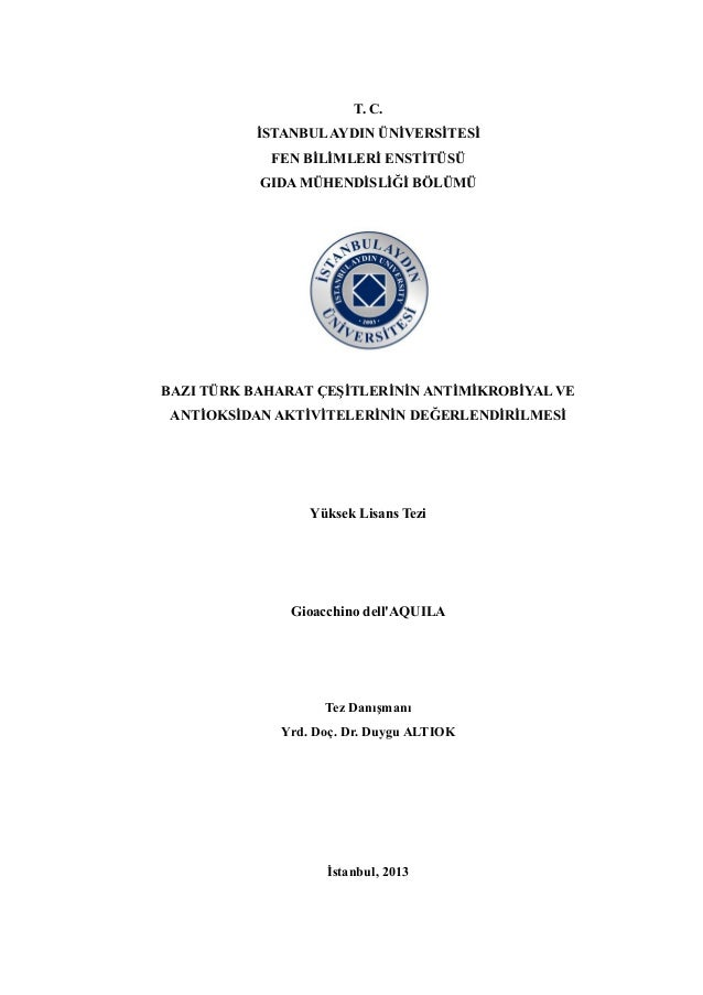 Thesis on antimicrobial activity of spices