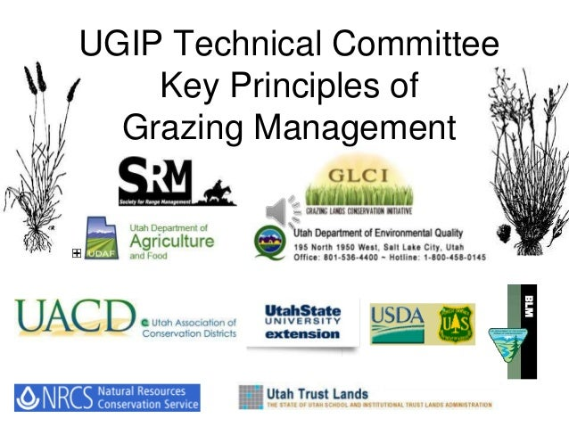 UGIP Technical Committee Key Principles of Grazing Management