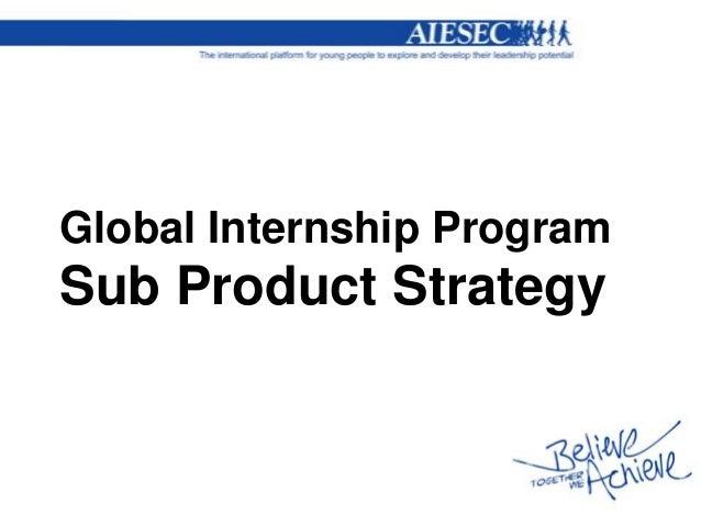 Global Internship ProgramSub Product Strategy