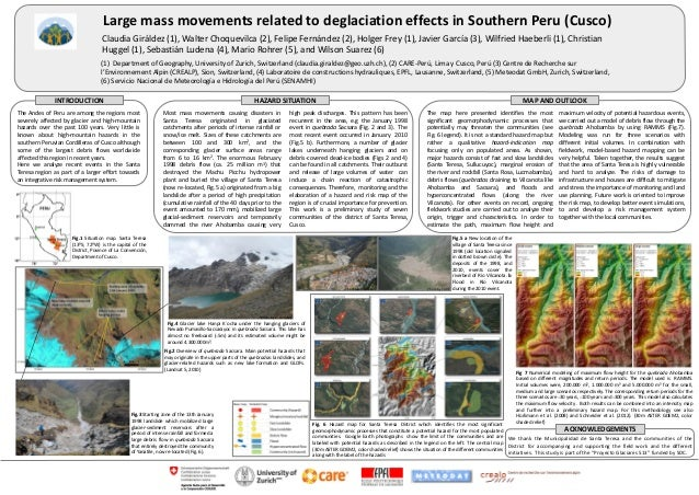 Large mass movements related to deglaciation effects in Southern Peru