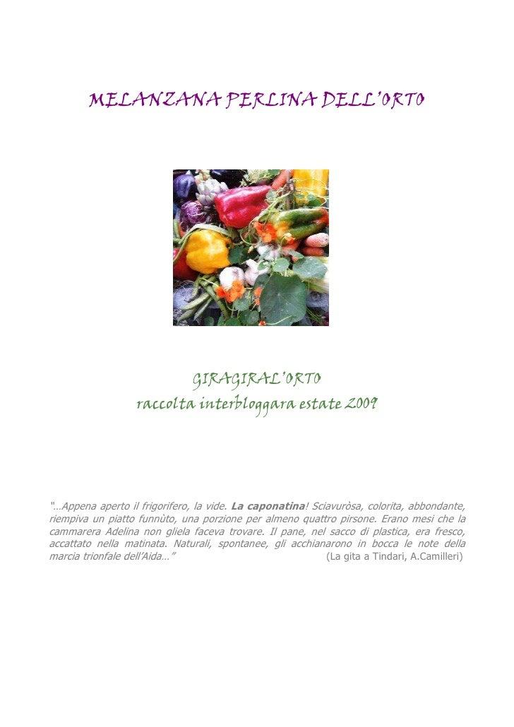 MELANZANA PERLINA DELL'ORTO                                    GIRAGIRAL'ORTO                    raccolta interbloggara es...