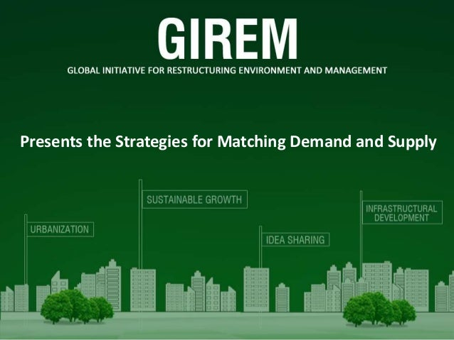 Presents the Strategies for Matching Demand and Supply