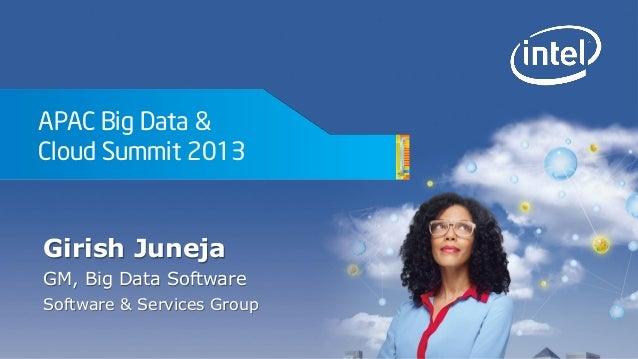 Girish Juneja - Intel Big Data & Cloud Summit 2013