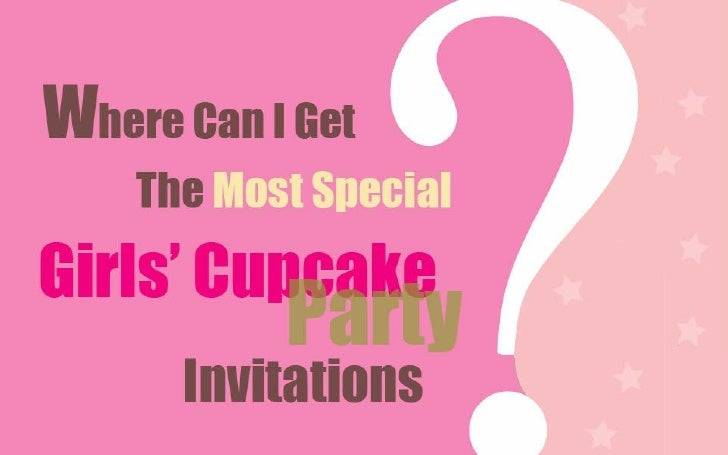 Cupcake Birthday Party Invites for Girls