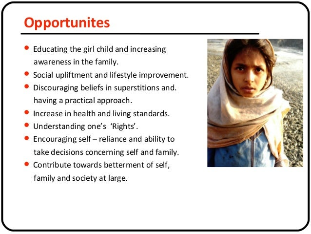 education of girl child is important essay Essay - importance of women education education is light brighter than that of sun women education is education for girls the world consists of men and women where both of them have research in many countries shows that if mother is well educated then the children will be healthier.