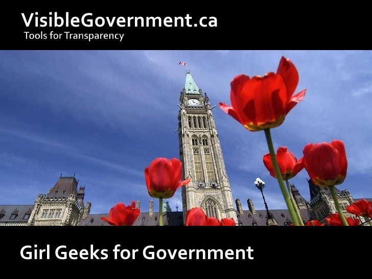 VisibleGovernment.ca     Girl Geeks for Government