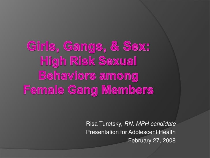 Risa Turetsky, RN, MPH candidate Presentation for Adolescent Health                  February 27, 2008