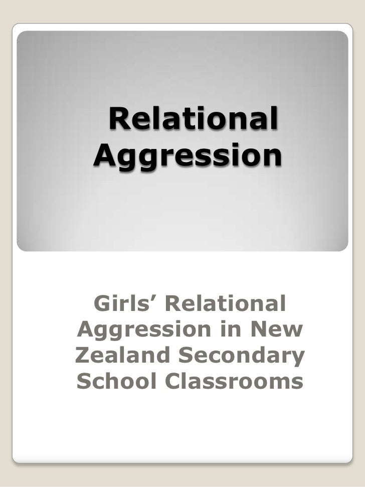 Girls' relational aggression in new zealand secondary school classrooms, angela page