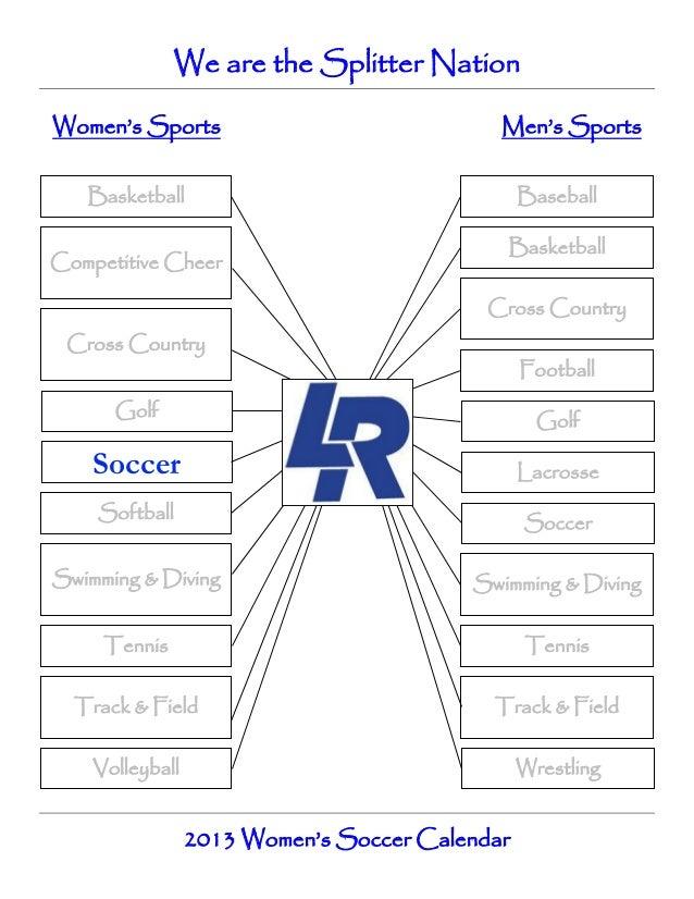 Girls soccer calendar   spring 2013
