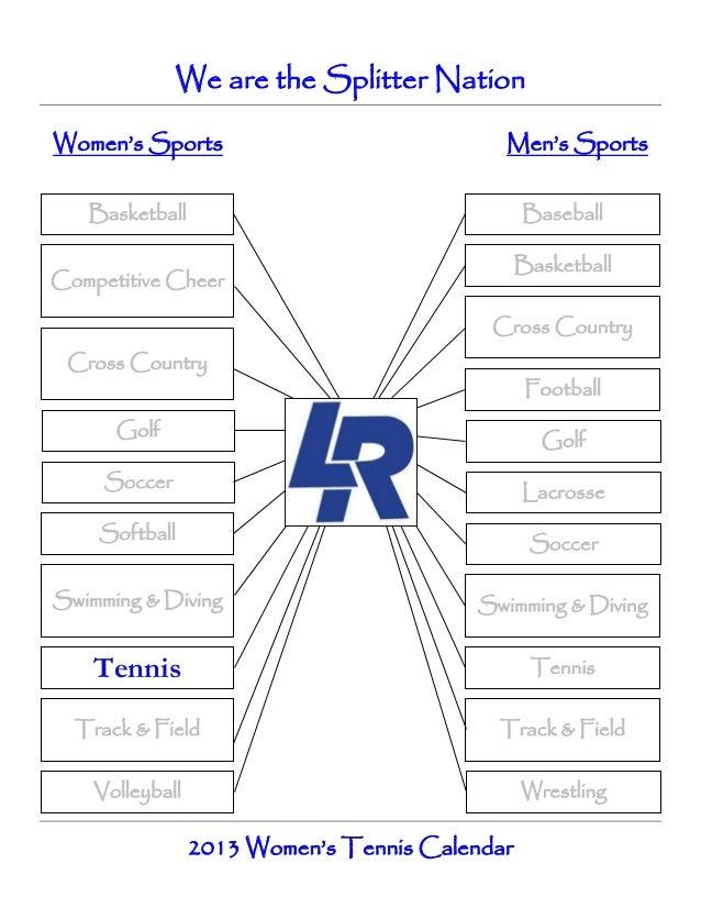 Girls tennis calendar   spring 2013