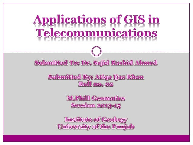 GIS in Telecommunication 2   Contents  Introduction to Telecommunication  Role of GIS in Telecommunication  Telecommun...