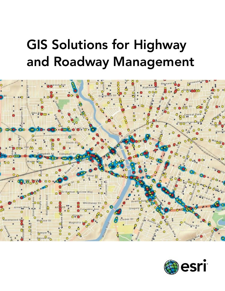 GIS Solutions for Highwayand Roadway Management                    Average Lane Speed (mph)