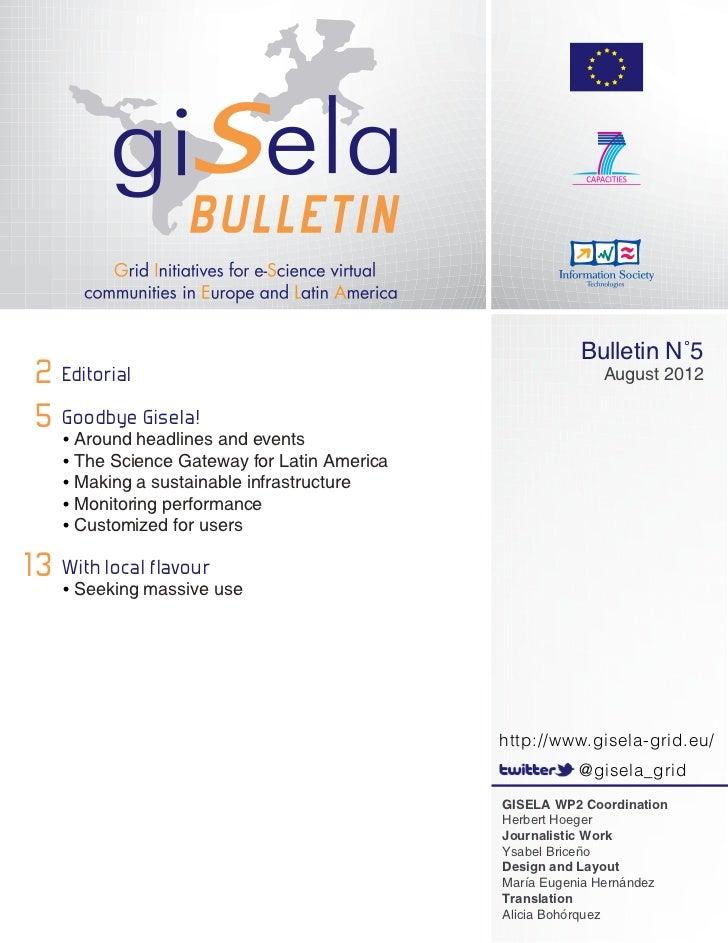 Gisela 5th Bulletin English