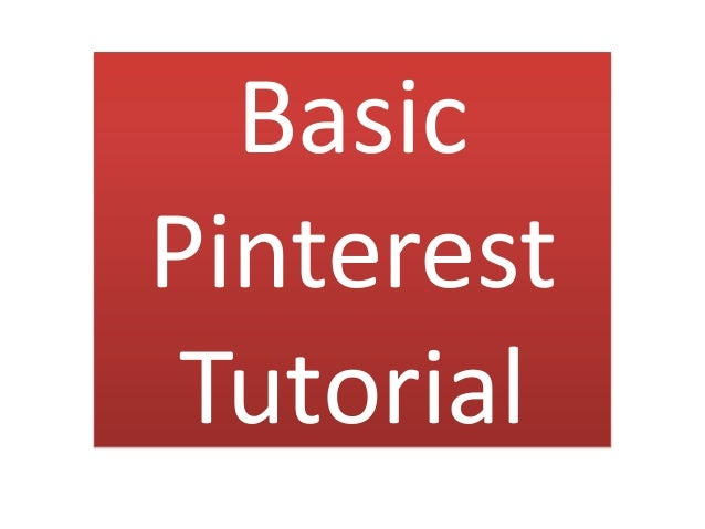 BasicPinterestTutorial