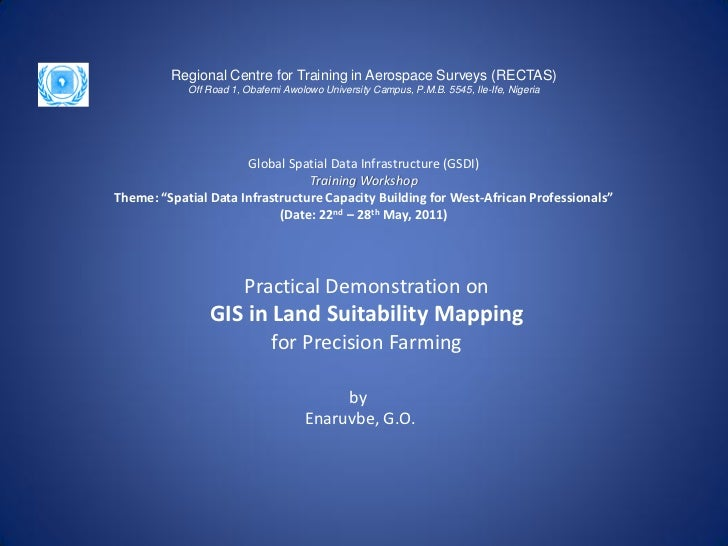 GIS in land suitability mapping