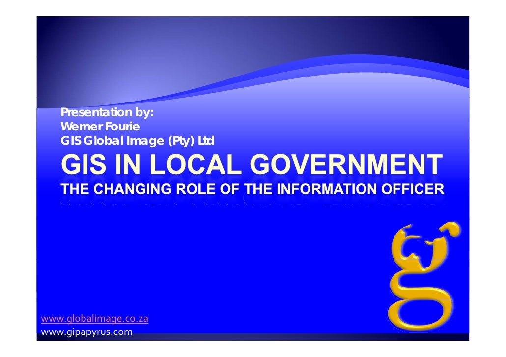 GIS In Local Government Global Image