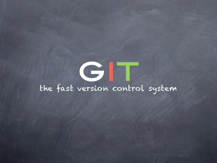 gitthe fast version control system