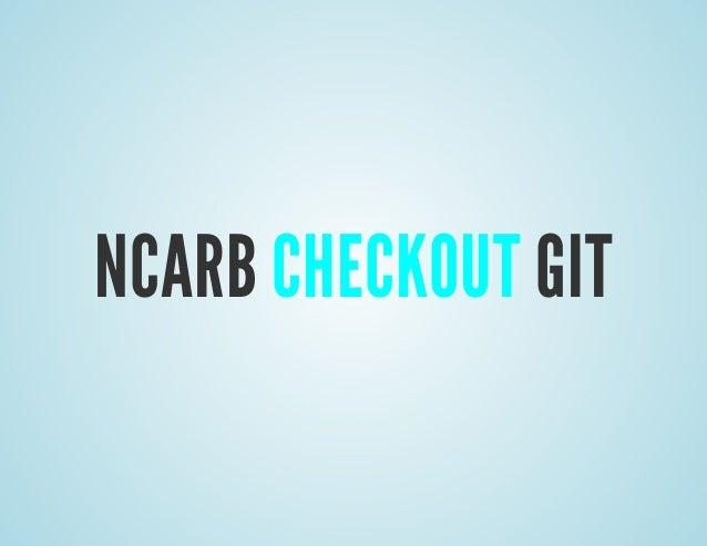 NCARB Checkout Git