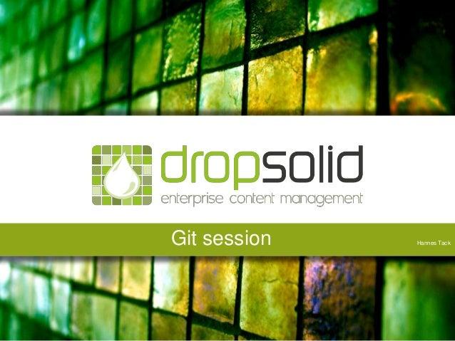 Git session Dropsolid.com