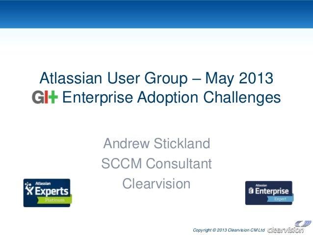 Git: enterprise adoption challenges