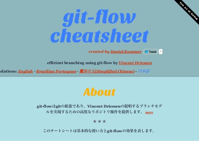 ForkmeonGitHubefficient  branching  using  git-­flow  by  Vincent  Driessennslations:  English  -­  Brazilian  Portugues  ...
