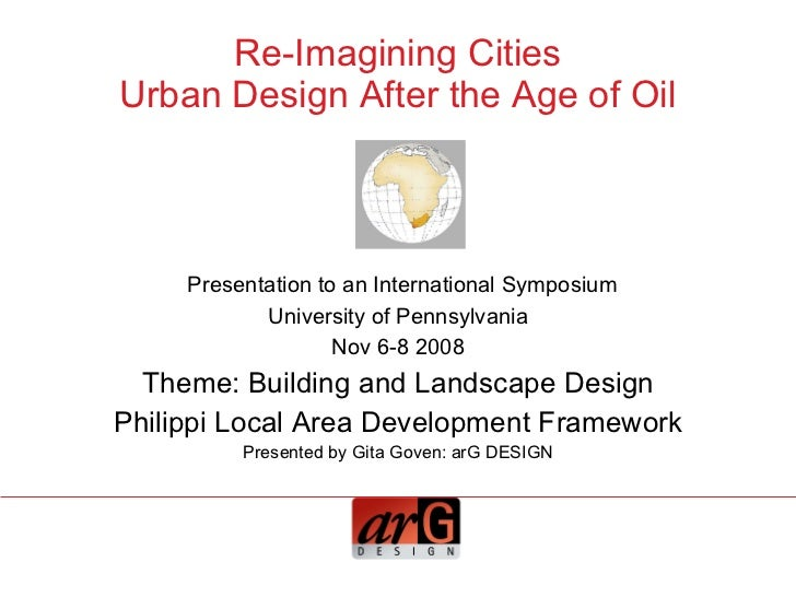 Building and Landscape Design Philippi Local Area Development Framework