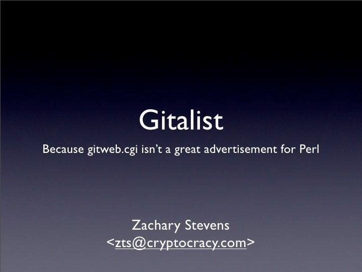 Gitalist Talk LPW2009