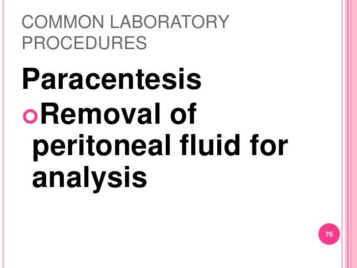 common laboratory procedures