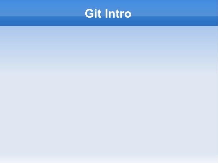 Git Intro