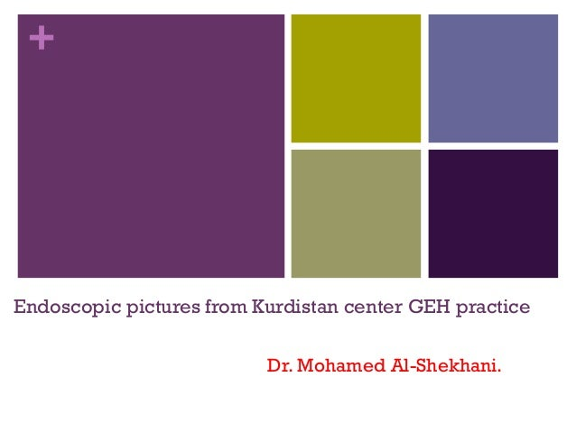 +  Endoscopic pictures from Kurdistan center GEH practice Dr. Mohamed Al-Shekhani.