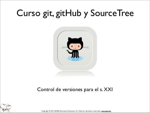 Curso git, gitHub y Source Tree