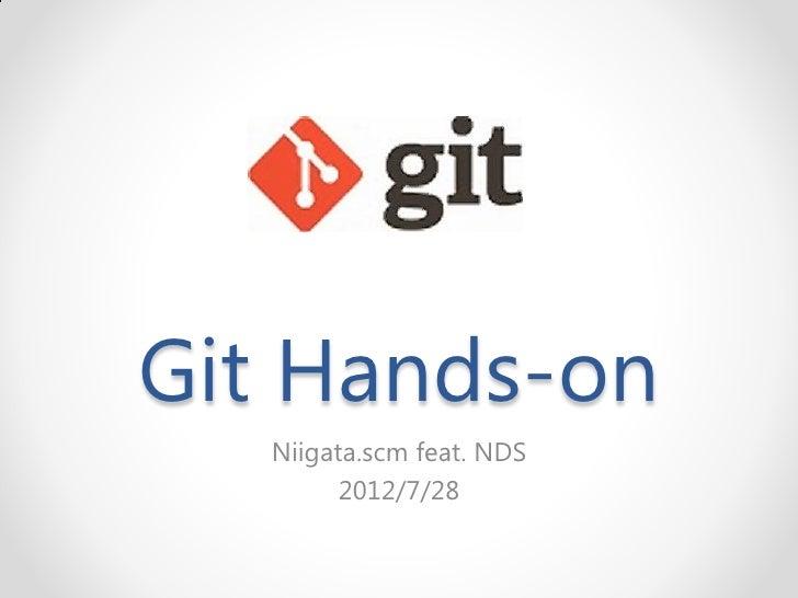 Git hands on