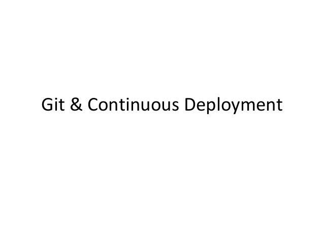 Git & Continuous Deployment
