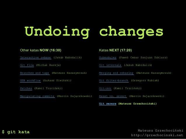 Gitkata undoing changes