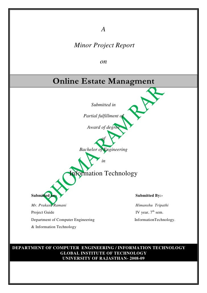 Online Estate Managment