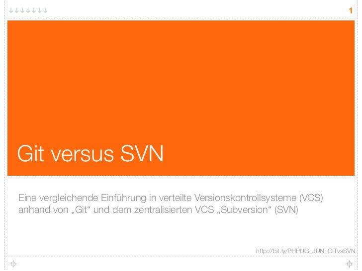 Git vs SVN - Eine vergleichende Einführung
