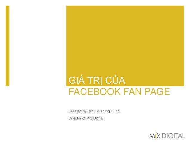 Giá trị của Facebook fan page đối với thương hiệu