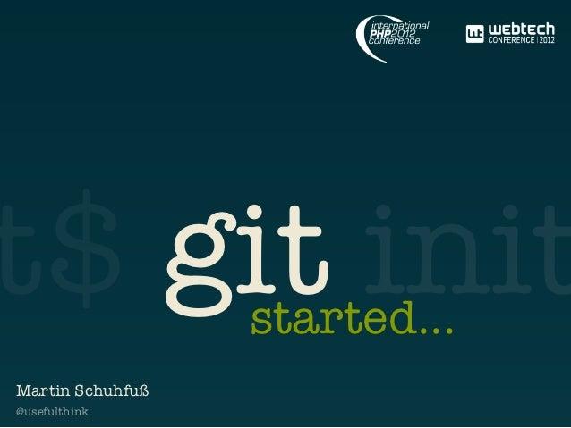 git started – IPC2012