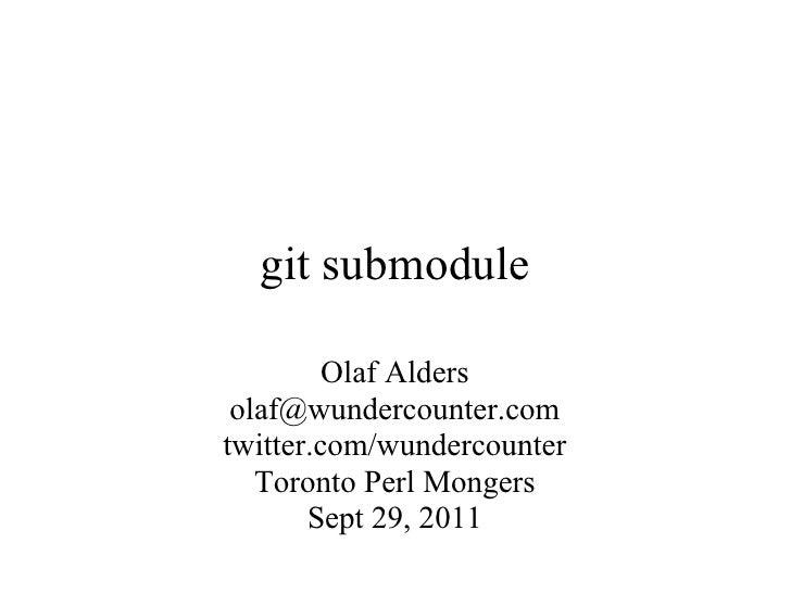 Git submodule