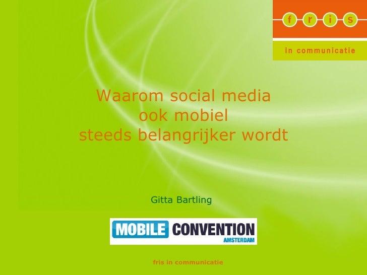 social media en mobiel