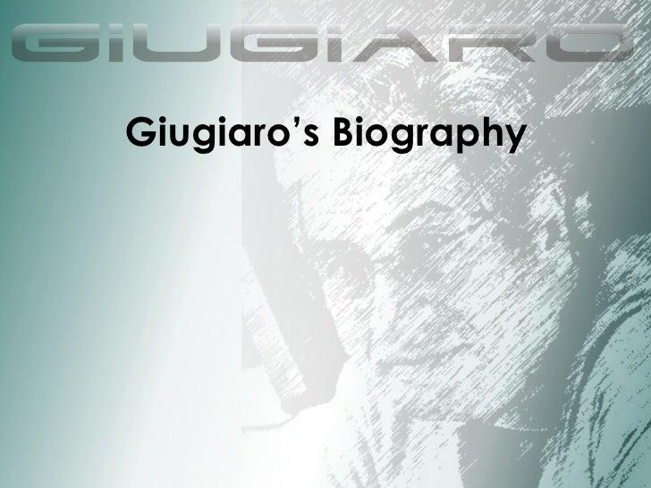 Giugiaro's Biography