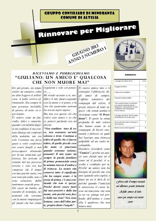 """Giornalino del Gruppo """"Rinnovare per Migliorare"""""""