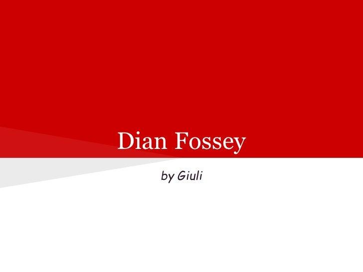 Giuli dianfossey